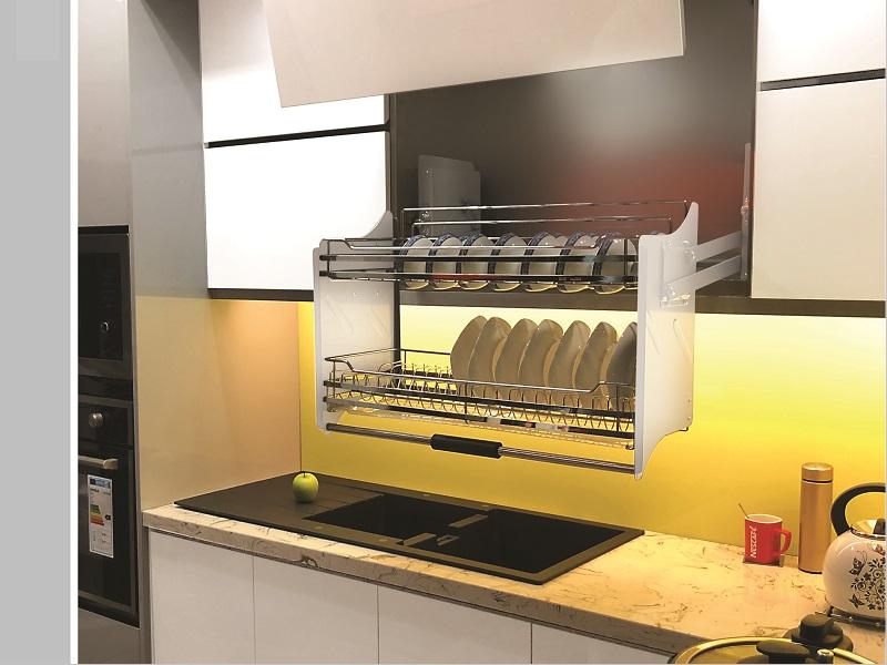 Giá bát đĩa di động inox304 mờ (H-BD137D) - Siêu Thị Thiết Bị Nhà Bếp  Kitchen Kitchen
