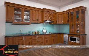 tủ bếp gỗ tự nhiên thanh hóa